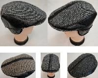 Warm Ivy Cap with Ear Flaps [Leather-Like Strips]